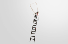 LMP (up to 12') metal folding attic ladders