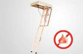 LWF fire rated wooden folding attic ladders