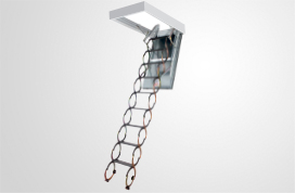 LSF fire rated metal scissor attic ladders