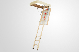 wooden folding highly insulated attic ladders