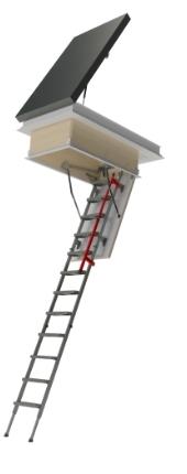 Flat Roof Metal Hatch DRL + Attic Metal Ladder LML