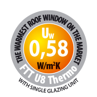 Highly energy-efficient center pivot windows FTT