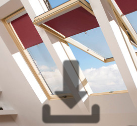 Pivot roof windows with raised axis of rotation