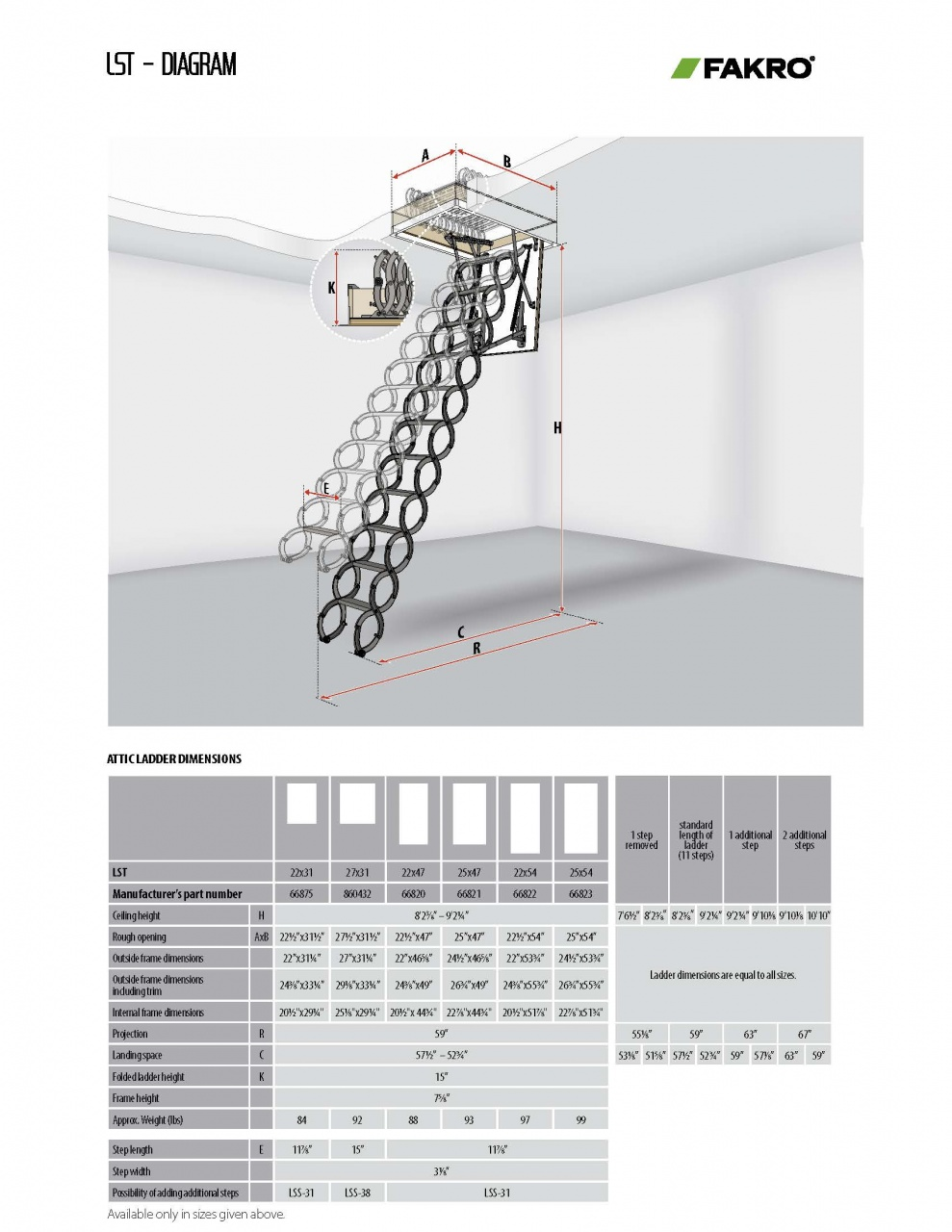 Metal Scissor Attic Ladders | LST and LSF Models - FAKRO USA