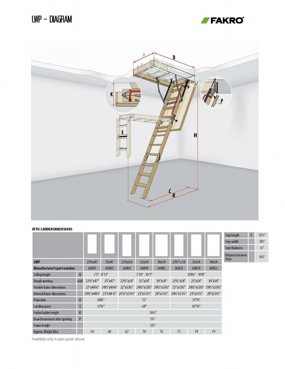 Fire Rated Attic Ladders | LWF | LSF | DWF - FAKRO USA